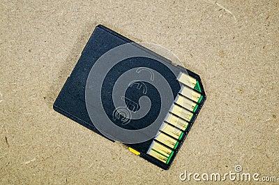 Cartão de memória velho do SD