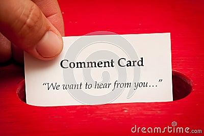 Cartão do comentário
