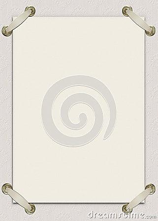 Cartão do convite com fitas