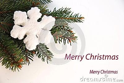 Cartão do Natal com floco