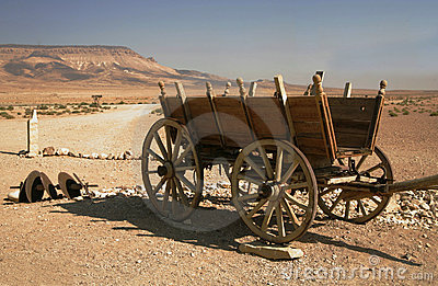 Cart in desert