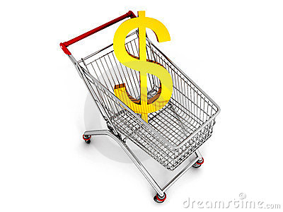 Cart with dollar