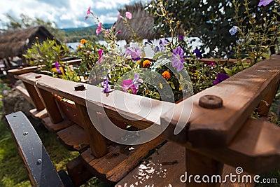 Cart flowers