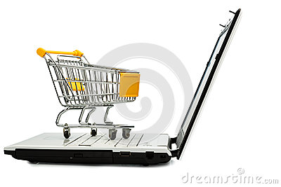 Cart and laptop