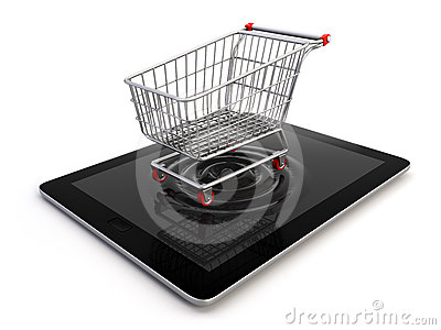 Cart over tablet