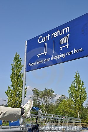Cart reture sign