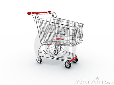 Cart shopping supermarket