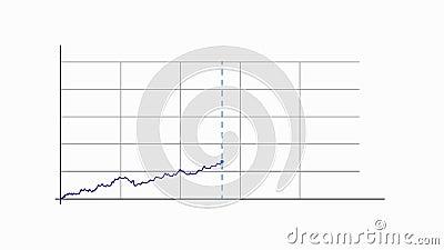 Carta conservada em estoque do gráfico da curva, animação video ilustração stock