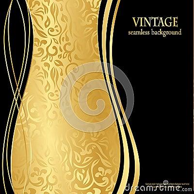 Carta da parati senza cuciture elegante dell 39 oro for Carta parati elegante