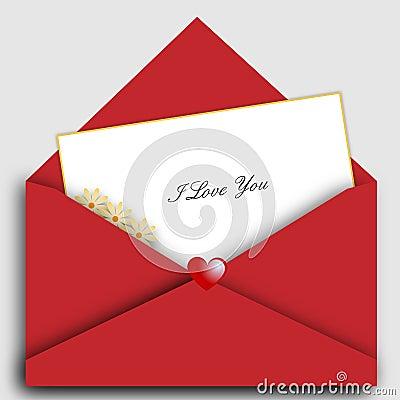 Carta de la tarjeta del día de San Valentín del St