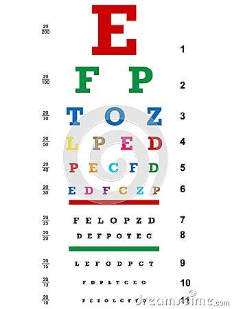 Carta de olho colorida