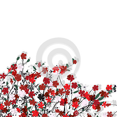Modello floreale sopra bianco
