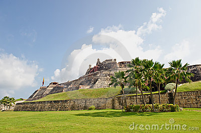 Cartagena city walls Colombia