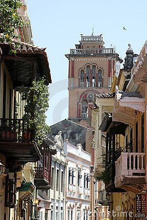 Free Cartagena De Indias Architecture. Colombia Royalty Free Stock Images - 655009