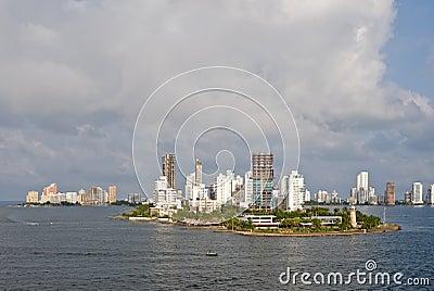 Cartagena skyline Colombia