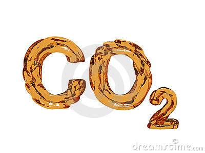 Cartas del símbolo del dióxido de carbono