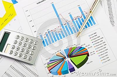 Cartas e gráficos das vendas
