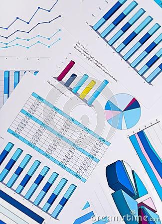 Cartas y gráficos, fondo del negocio