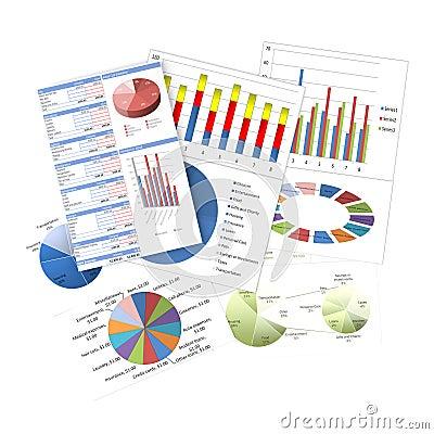 Cartas y gráficos de negocio