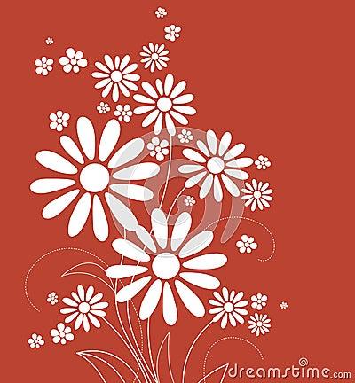 Carte avec des fleurs