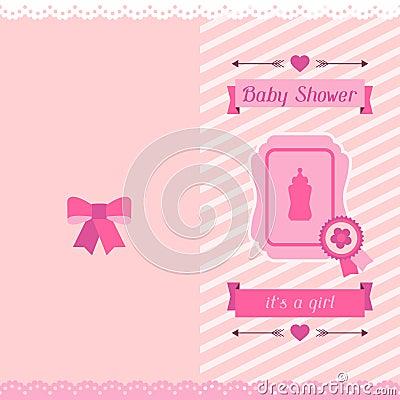 carte d 39 invitation de f te de naissance de fille illustration de vecteur image 51175803. Black Bedroom Furniture Sets. Home Design Ideas