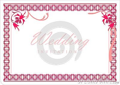 carte d 39 invitation de mariage avec des fleurs dans le. Black Bedroom Furniture Sets. Home Design Ideas
