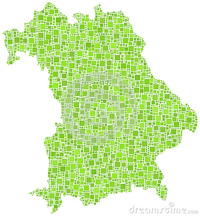 Carte de la Bavière - Allemand -