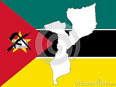 Carte de la Mozambique