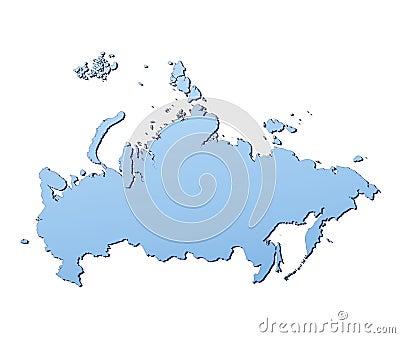 Carte De La Russie Image stock - Image: 4562111