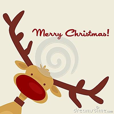 Carte de Noël avec le renne