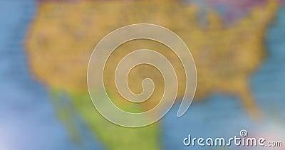 Carte de pays des Etats-Unis sur le globe banque de vidéos