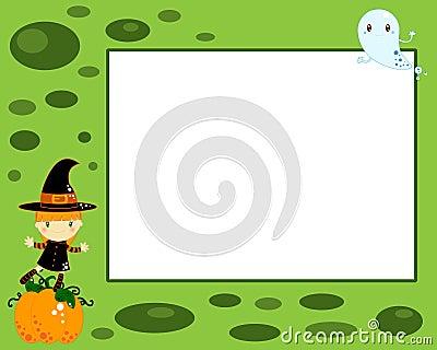 Carte de sorcière de Veille de la toussaint
