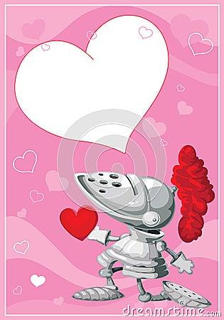 Carte de valentines de chevalier