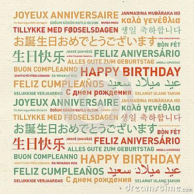 Joyeux Anniversaire Langues Du Monde
