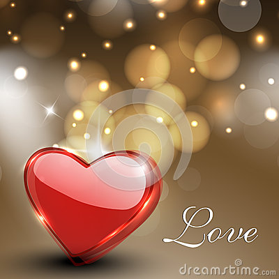 Carte de voeux, chèque-cadeau ou fond de jour de Valentines avec le lustre