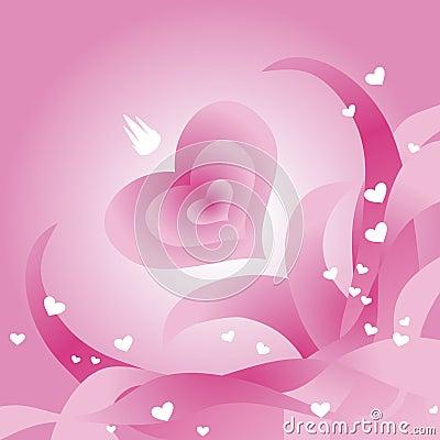 Carte de voeux du jour de Valentine