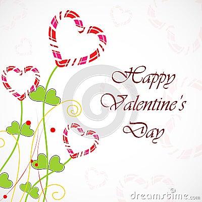 Carte de voeux heureuse de jour de Valentines