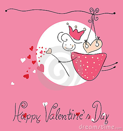 Carte de voeux heureuse de jour du `s de valentine