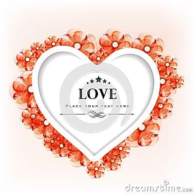 Carte de voeux ou chèque-cadeau de jour de Valentines avec décoratif floral