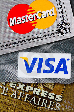 Carte di credito Fotografia Stock Editoriale
