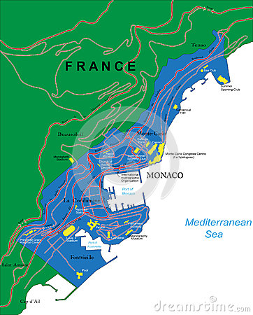 Carte du Monaco