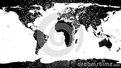 carte du monde contre miroiter le fond d 39 toile clips vid os vid o 46258715. Black Bedroom Furniture Sets. Home Design Ideas