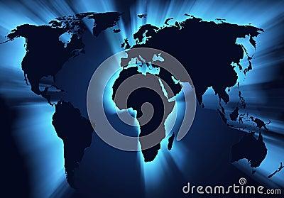 Carte du monde de globe