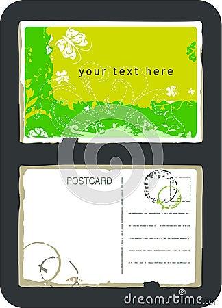 Carte postale de vecteur de cru