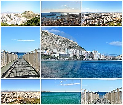 Carte Postale De Ville Alicante, Espagne Photographie ...