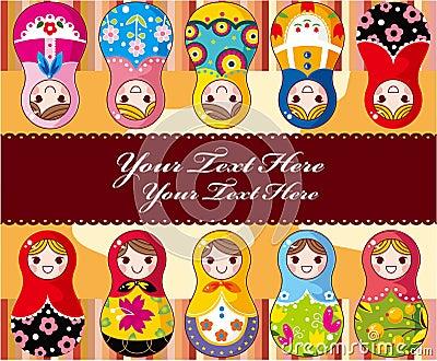Carte russe de poupée