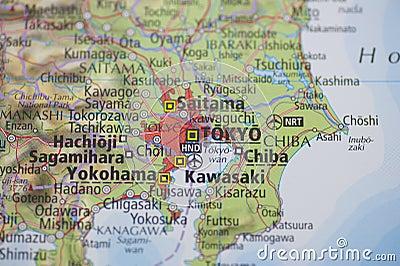 carte tokyo d 39 atlas image libre de droits image 21415606. Black Bedroom Furniture Sets. Home Design Ideas