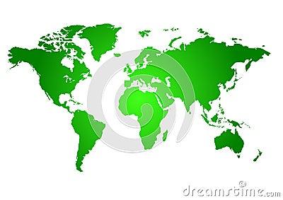 Carte verte du monde images libres de droits image 2580069 - Carte du monde en couleur ...