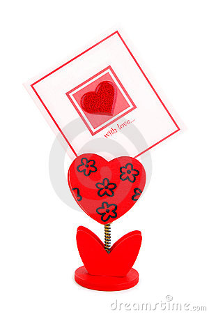Carte vierge avec le coeur rouge