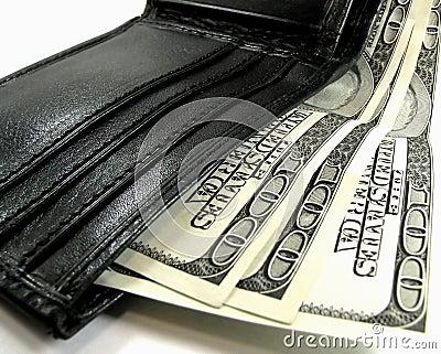 Carteira com dólares